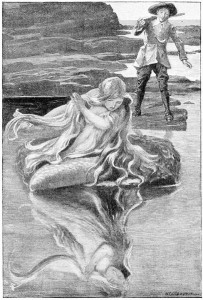 Tristram Bird sees the Padstow Mermaid - from North Cornwall fairies and legends by Enys Tregarthen